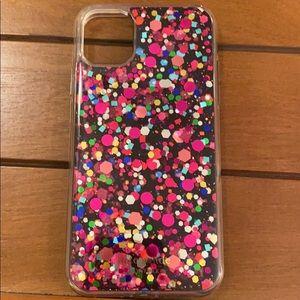 Kate Spade iPhone 11 case - party confetti glitter